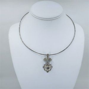 Catherine Stein Structured Heart Pendant Necklace